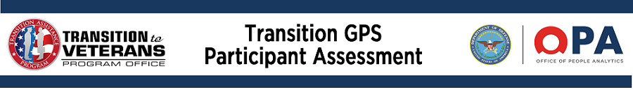 Transition GPS Assessment Banner with OPA and DoD Logos